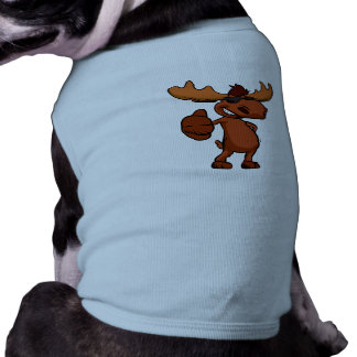 Cute moose cartoon waving. T-Shirt