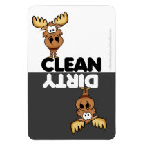 Cute Moose Dishwasher Magnet