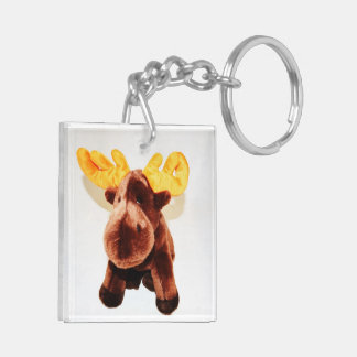 CUTE MOOSE Double-Sided SQUARE ACRYLIC KEYCHAIN