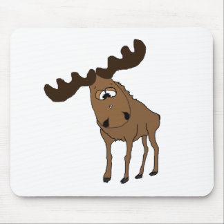 Cute moose mouse pad
