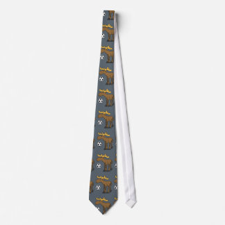 Cute Moose Playing Soccer Cartoon Neck Tie