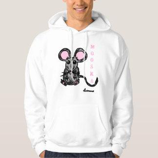 Cute Mooska Mouse Adult Hooded Sweatshirt