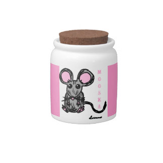 Cute Mooska Mouse Candy Jar