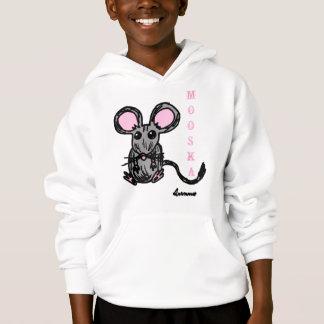 Cute Mooska Mouse Kids Hooded Sweatshirt