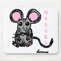 Cute Mooska Mouse Mousepad