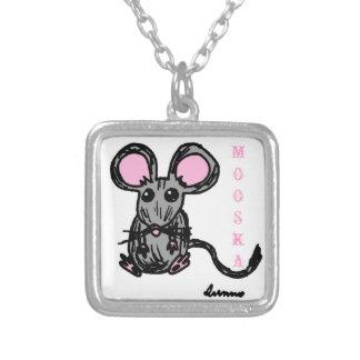 Cute Mooska Mouse Necklace