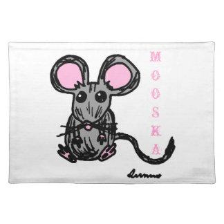 Cute Mooska Mouse Placemats