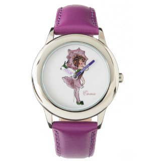 Cute Morning Glory Flower Child Floral Little Girl Wrist Watch