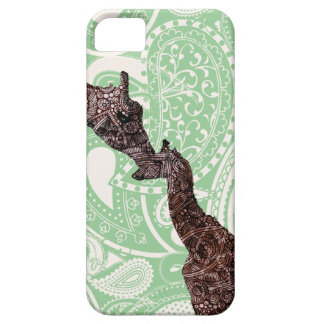 Cute mother and baby giraffe iphone covers