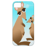 Cute mother and baby kangaroo iPhone 5 covers