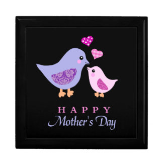 Cute mother and child birds mother s day keepsake boxes