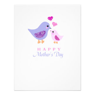 Cute mother and child birds mother s day invites