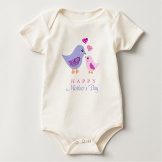 Cute mother and child birds mother's day romper