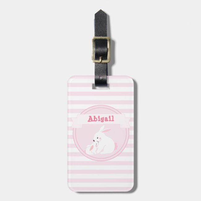 Cute Mother & Baby Girl Bunny Personalized Kids