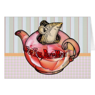 cute, Mother, Mother's Day, Cute Mouse in teapot Card