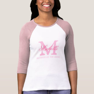Cute mother of the bride wedding t shirt | pink