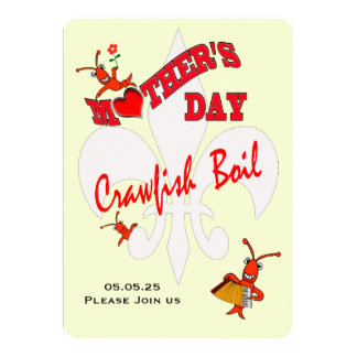 Cute Mother's Day Crawfish Boil Card