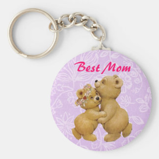 Cute Mothers Day Dancing Teddy Bears Keychain