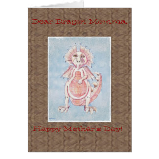 Cute Mother's Day Dragon Card Cards
