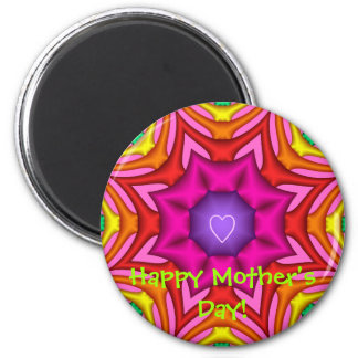 Cute Mother's day magnet with colorful design