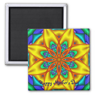 Cute Mother's day magnet wth Fantasy flower & text