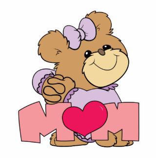 cute mothers day mom teddy bear design acrylic cut outs