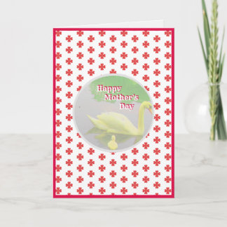 Cute Mother's Day Swan Card