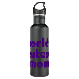 Cute Mothers & Moms : World's Cutest Mom Stainless Steel Water Bottle