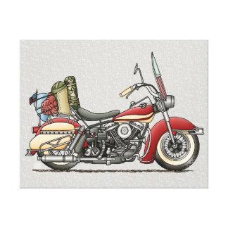 Cute Motorcycle Canvas Print