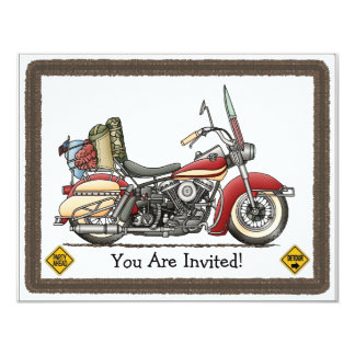 Cute Motorcycle Card