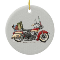 Cute Motorcycle Ceramic Ornament