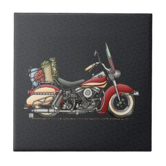 Cute Motorcycle Ceramic Tile