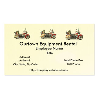 Cute Motorcycle Double-Sided Standard Business Cards (Pack Of 100)