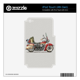 Cute Motorcycle iPod Touch 4G Skins