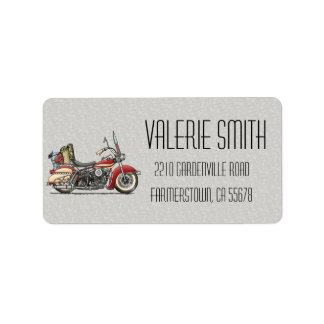 Cute Motorcycle Address Label