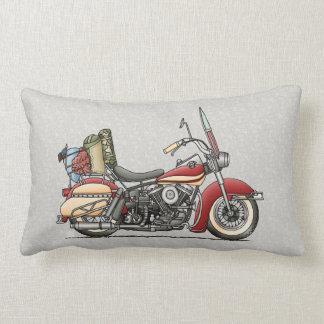 Cute Motorcycle Lumbar Pillow