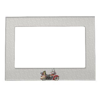 Cute Motorcycle Magnetic Photo Frame