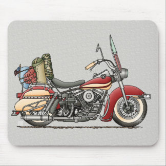 Cute Motorcycle Mouse Pad