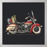 Cute Motorcycle Print