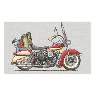 Cute Motorcycle Rectangular Sticker