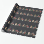 Cute Motorcycle Wrapping Paper