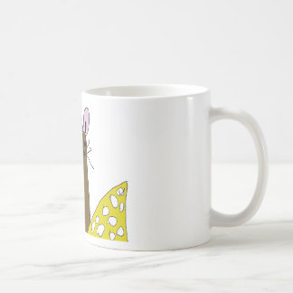 Cute Mouse and Cheese Coffee Mug