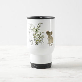 Cute Mouse and Lily of the Valley Travel Mug