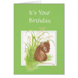 Cute Mouse, Birthday Friend Greeting Cards