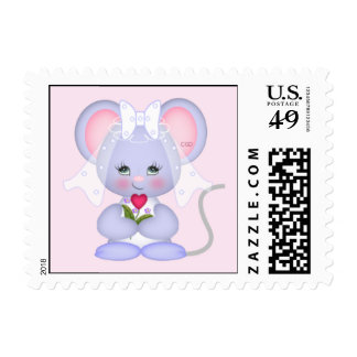 Cute Mouse Bride Postage