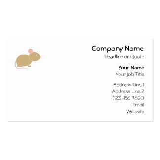 Cute Mouse. Business Card