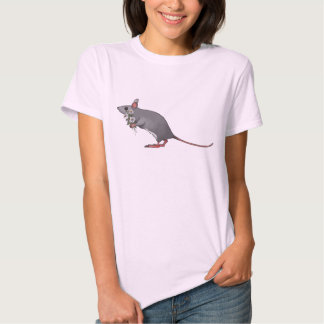 Cute Mouse Carrying Bouquet of Daisies Shirt