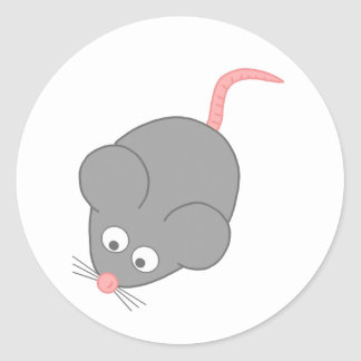 Cute Mouse Classic Round Sticker
