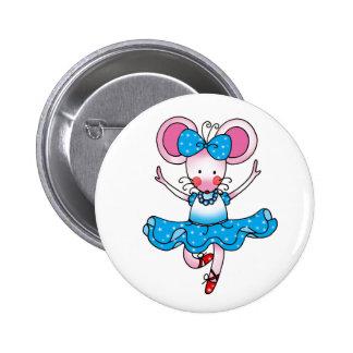 Cute mouse girl ballerina button