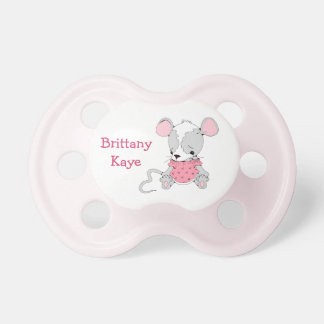 Cute Mouse Girls Personalized BooginHead Pacifier